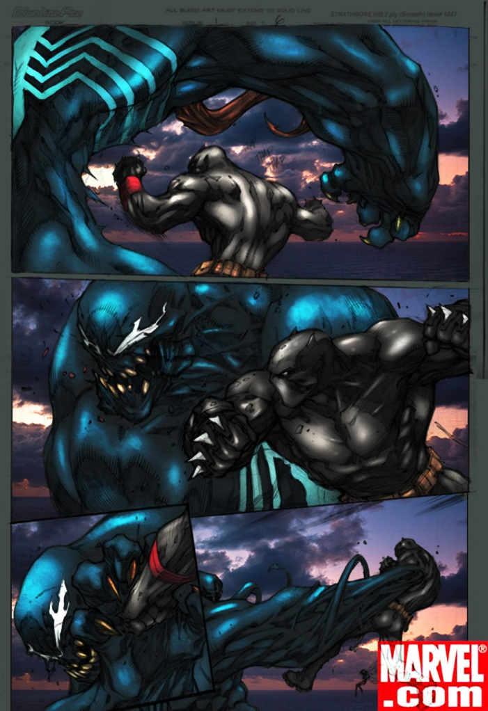 Venom vs Black Panther