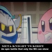 Meta Knight vs Kirby