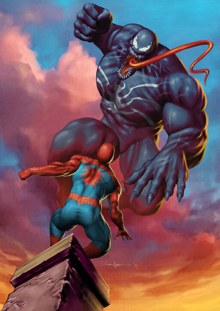 ... Spiderman wins. He has the phoenix, which powers are Venom's
