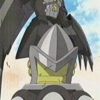 Black War Greymon vs Gallantmon