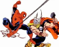 Image result for thor vs spiderman