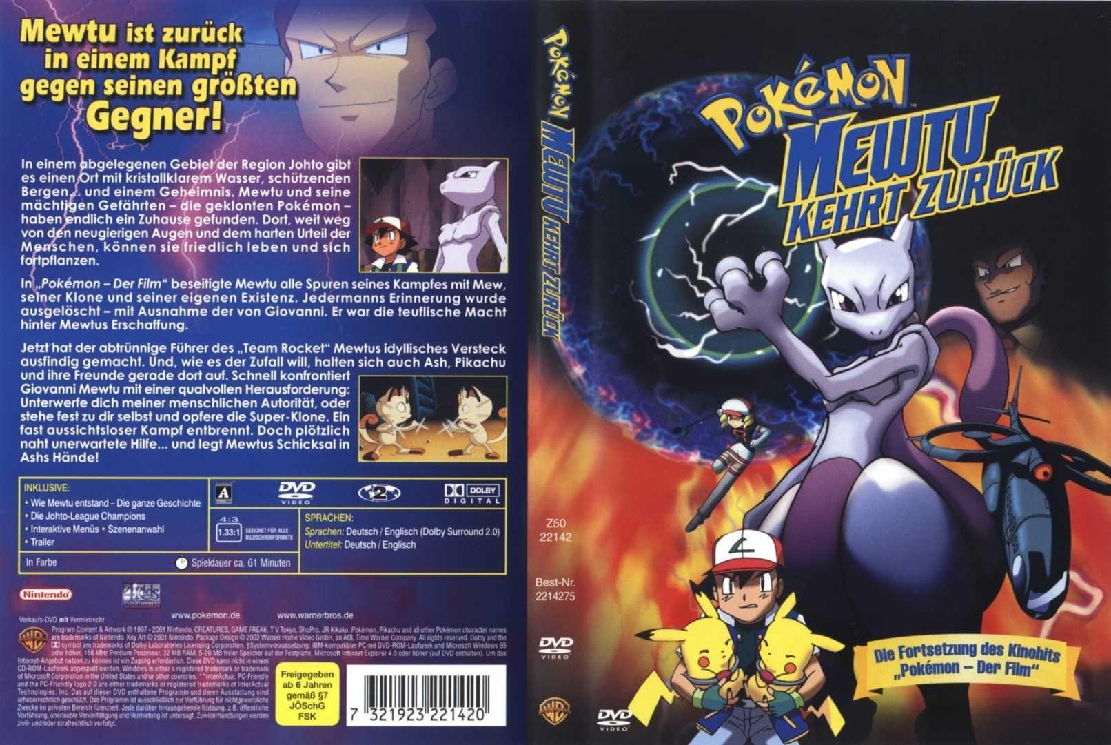 Mewtwo Returns   DReager1's Blog Pokemon Mewtwo Returns Dvd