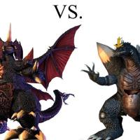 Space Godzilla vs Destoroyah