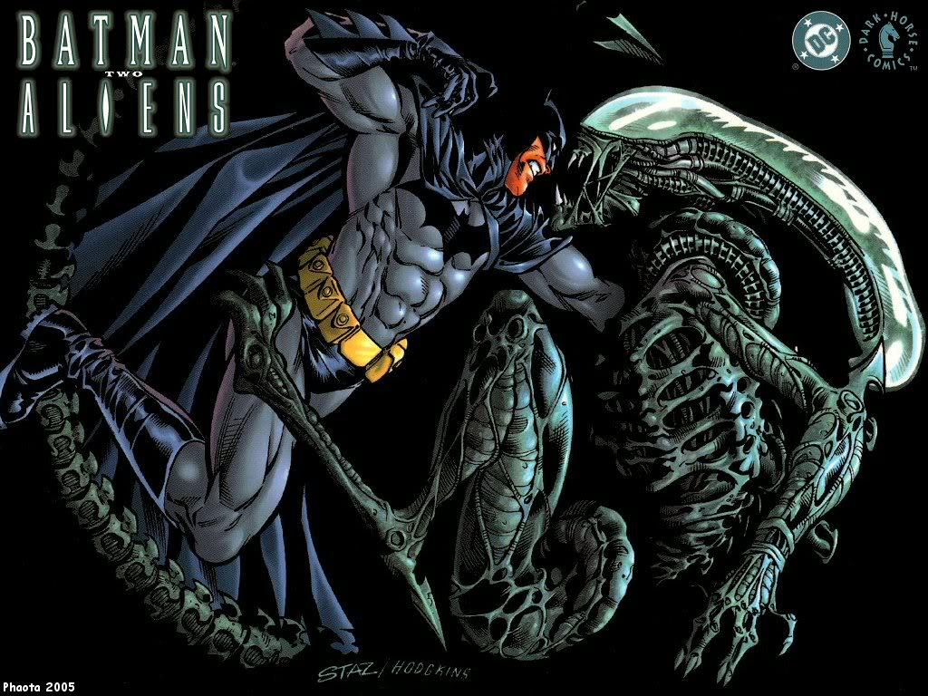 batman vs alien by - photo #9