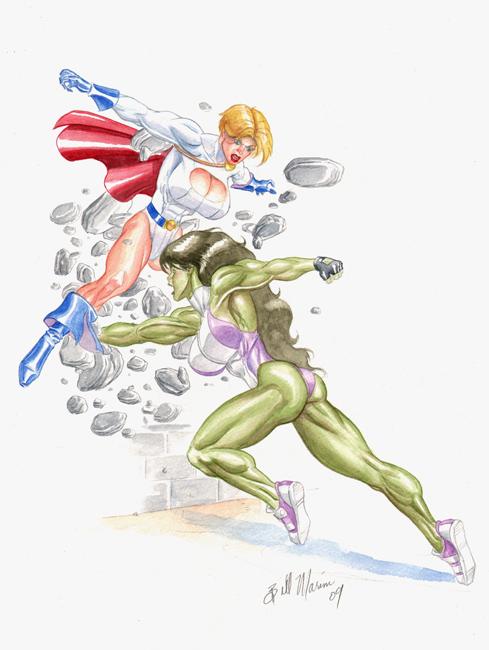 Power girl and she hulk