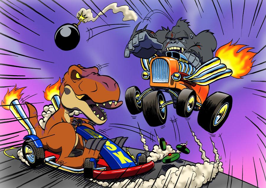 Kong vs t rex hell on wheels by imbong d4yhdtg