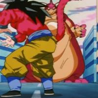 Rage Shenron vs Goku