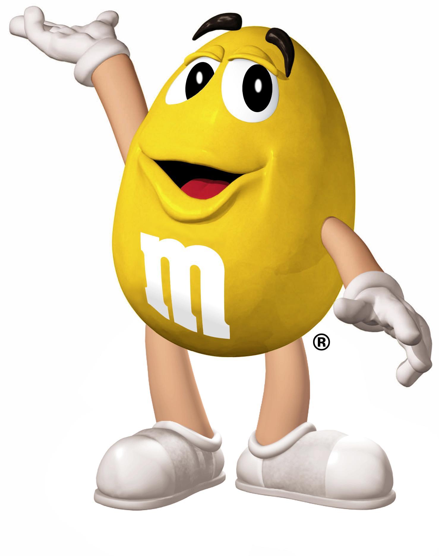 Yellow m amp m