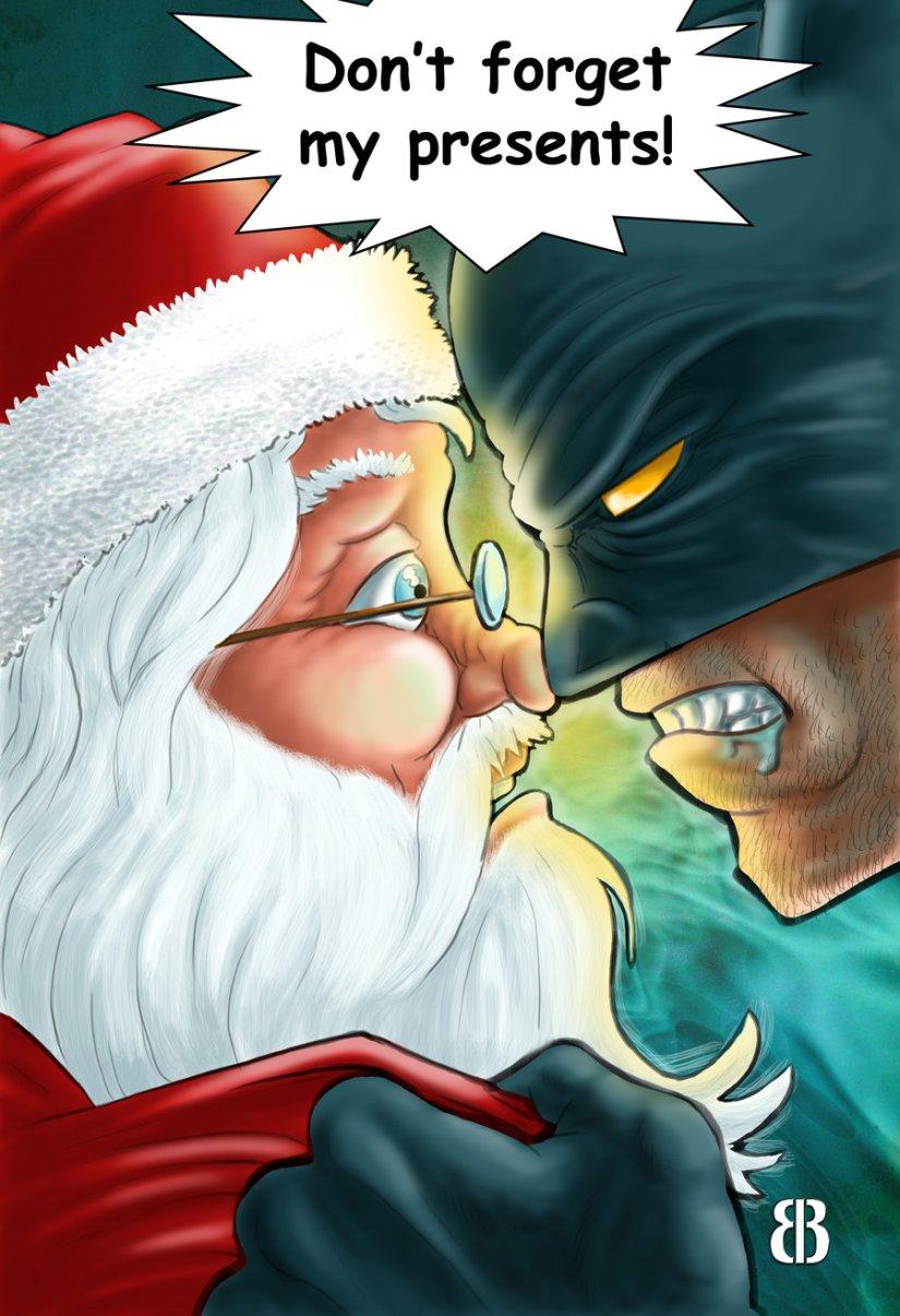 Santa Claus vs Batman