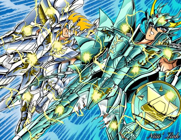 Cygnus Hyoga vs Dragon Shiryu
