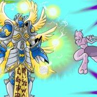 Angemon vs Mewtwo