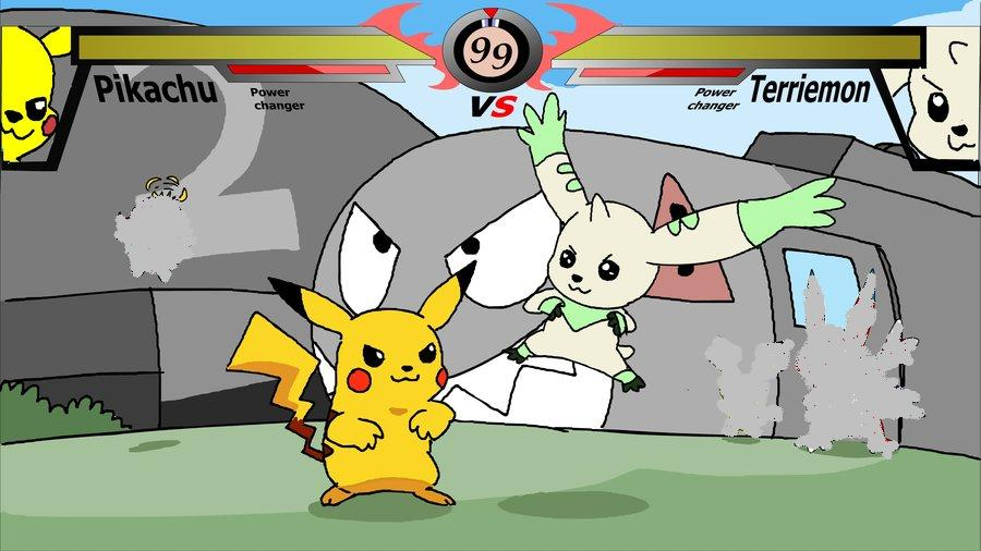 Pikachu vs terriermon dreager1 39 s blog - Www living hall digion ...