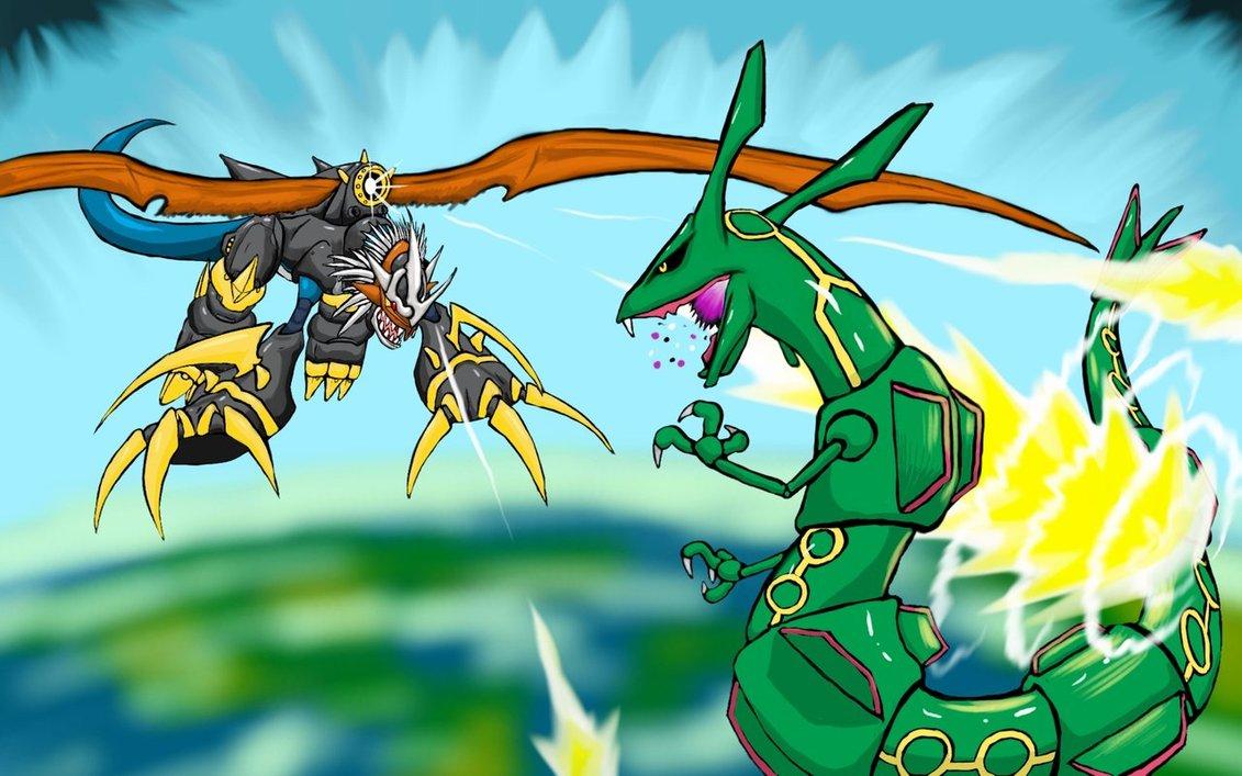 Veemon vs Rayquaza – DReager1.com