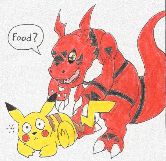 Guilmon can eat Pikachu