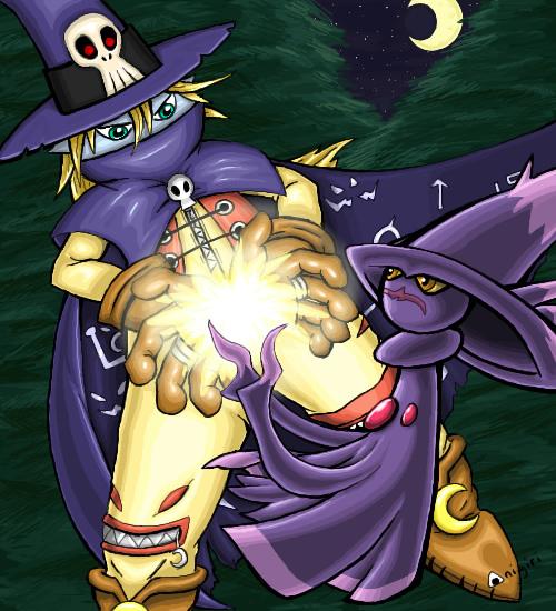 Wizardmon and Mismagius