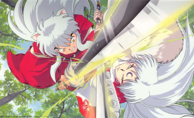inuyasha vs sesshomaru sd