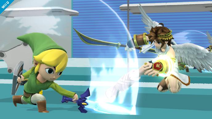 Toon Link vs Pit