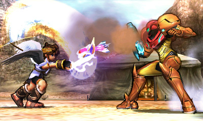 Pit and Samus are Duking it out!