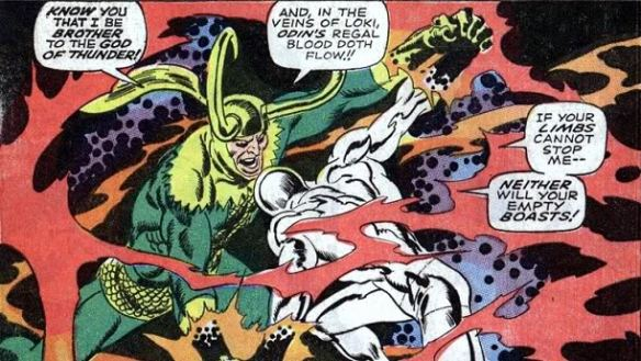 Silver Surfer vs Loki