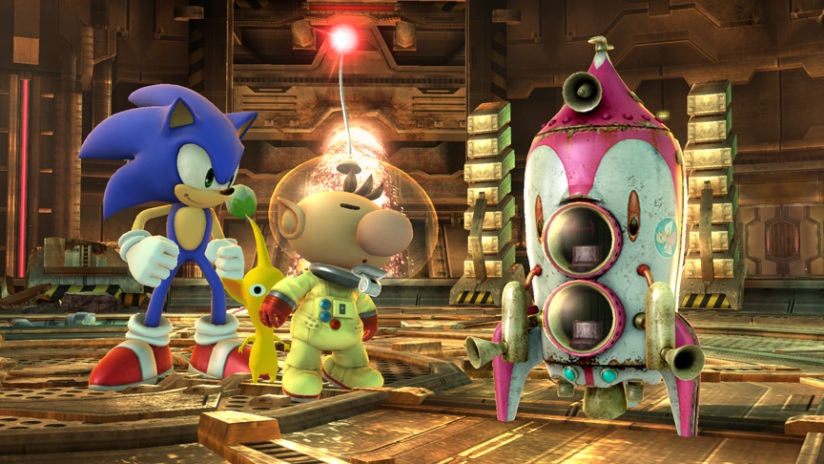 Sonic and Olimar are staring at a spaceship...I hope