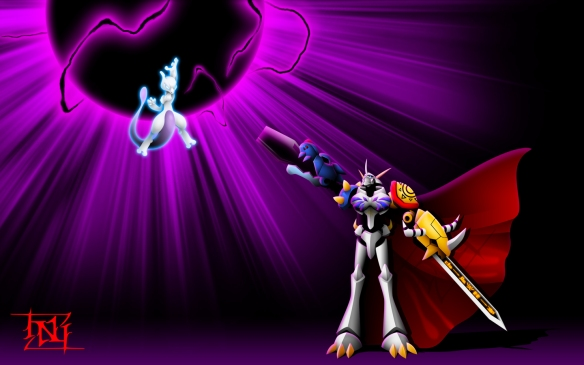 Omnimon and Mewtwo