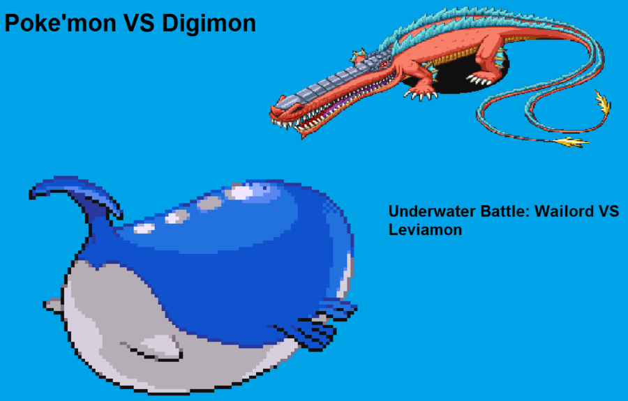 Leviamon vs Wailord | DReager1's Blog Wailord Pokemon Size