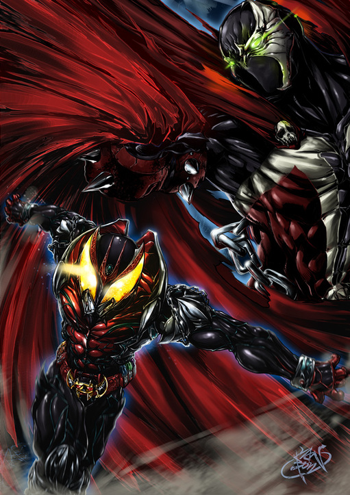 Kamen Rider Kiva vs Spawn