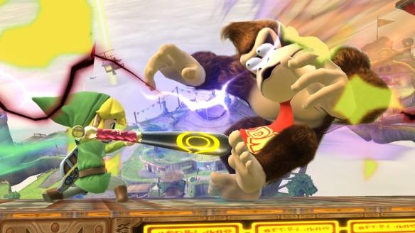 Toon Link smashing DK