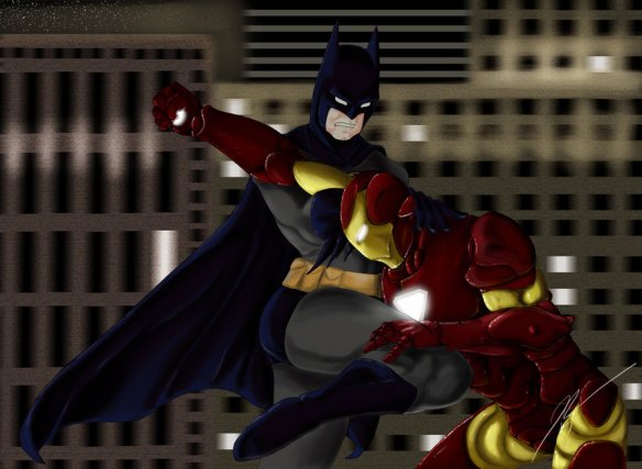 Batman vs Ironman | DReager1.com