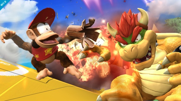 Diddy shoots Bowser