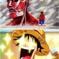 Colossal Titan vs Luffy