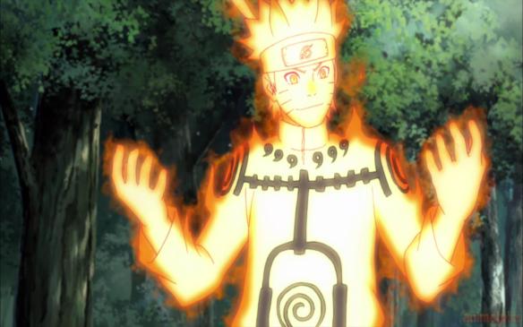 Naruto Nine Tails Chakra Mode-animeipics