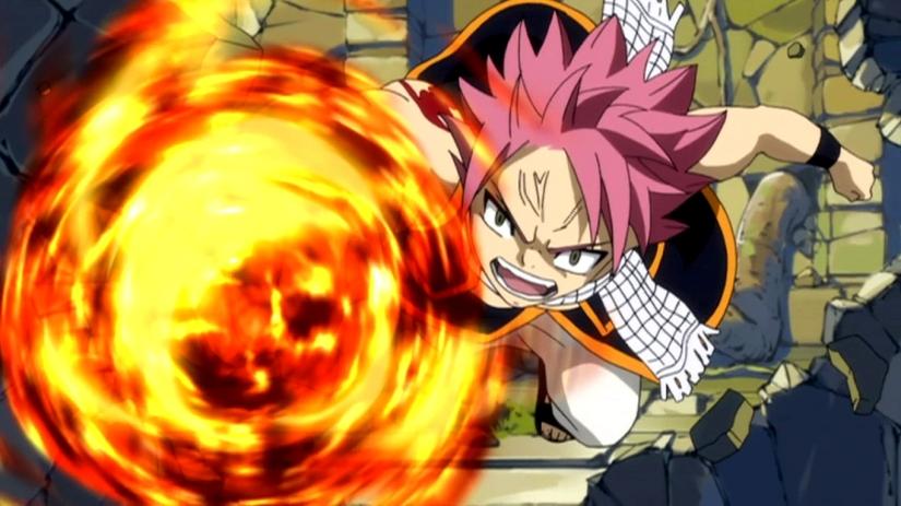 Natsu_destroying_Galuna_Temple